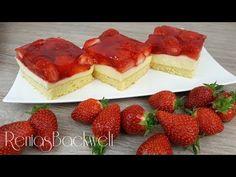 Erdbeerschnitten Blechkuchen Einfach & Lecker - YouTube