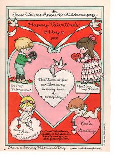 gold country girls: A Valentine From Joan Walsh Anglund My Funny Valentine, Vintage Valentine Cards, Valentine Day Love, Vintage Greeting Cards, Valentine Crafts, Valentine Stuff, Vintage Postcards, Joan Walsh, Paper Art
