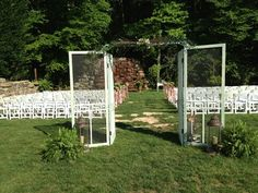 Local Wedding Resources : Willow Creek Falls & Vineyard : Blue Ridge, GA : Brides. Doors going into ceremony area