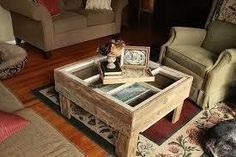Diy Coffee Table From An Old Window  •  Free tutorial with pictures on how to make a recycled table in 6 steps