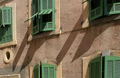 Shutters in Collioure, Languedoc-Roussillon_ South France