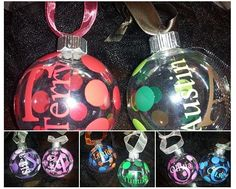 DIY Personalized Christmas Bulb Decals
