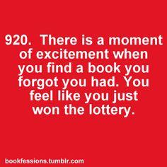 Encontrar un #libro olvidado es como recibir un regalo de Navidad, a través de Bookfessions.