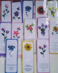 Quilled bookmarks