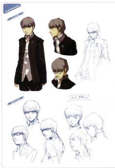 Concept art of Yu Narukami of Persona 4.
