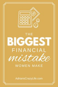 The Biggest Financial MISTAKE Women Make @AdriansCrazyLif Did you know that 60% of all older women end up living in poverty? This is why. #adrianscrazylife #moneymanagement #financialmistake Money Saving Meals, Best Money Saving Tips, Money Savers, Parenting Teens, Parenting Hacks, Debt Snowball Spreadsheet, Show Me The Money, Get Out Of Debt, Crazy Life
