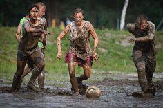 Football in dirt