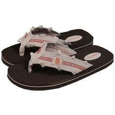 84546ab20f3a4a Florida State Seminoles (FSU) Men s Brown Frayed Flip Flops Florida State  University