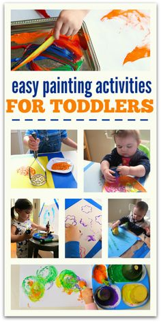 Easy Painting Activities For Toddlers - open ended art with cool tools! Add on painting with real leaves - my students loved it!