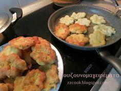 Τηγανίτες με τυριά και τριμμένο κολοκυθάκι! Για πρωινό είναι υπέροχες…. για βραδινό με μπυρίτσα δεν το συζητώ!!! Πολύ ε... Potato Salad, Meat, Chicken, Ethnic Recipes, Food, Meals, Yemek, Buffalo Chicken, Eten