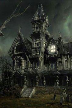 Creepy Old Abandoned Houses Spooky House, Creepy Houses, Halloween Haunted Houses, Haunted Mansion, Animé Halloween, Halloween Pictures, Vintage Halloween, Ghost Pictures, Halloween Season