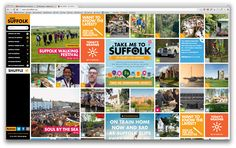 Homepage layout http://www.visitsuffolk.com/