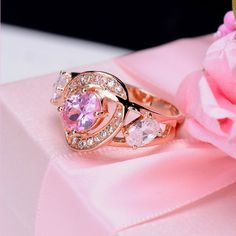 Free Shipping New Arrival 18K Gold Plated with Cubic Zirconia Rings Fashion Accessories Trendy Jewelry $6.20