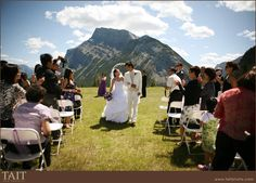 Wedding ceremony on top of tunnel mountain, near Banff