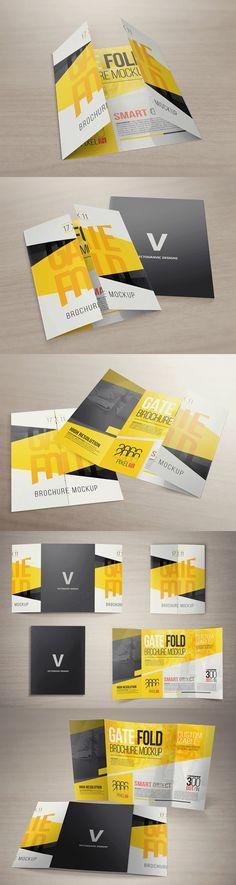 One page flyer mockup Free CU\/PU Mock Ups\/ Digital Scrapbooking - gate fold brochure mockup
