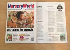 Please pick up a copy of Nursery World, where there is an interview with our very own Gail (Early Years Manager).     Gail talks about her new role. Her views on Government plans to relax planning regulations for nurseries and Creative Minds Nursery    http://www.nurseryworld.co.uk/article/1192996/interview---gail-ryder-richardson