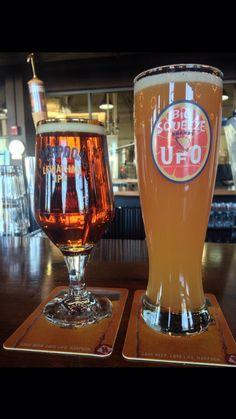 Harpoon Brewery.  Leviathan IPA and Big Squeeze grapefruit UFO.   Boston 2015