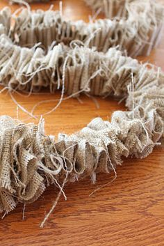 Burlap garland for the christmas tree!