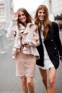 Love the ruffles on the coat...great colour too.