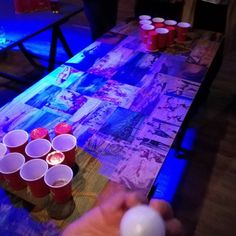According to this photo I played beer pong last night.