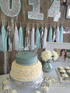 Graduation Party Decoration Ideas - Love the party tassle and glitter!  JenTbyDesign