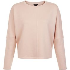 New Look Mid Pink Batwing Sleeve Cropped Sweater (€15) ❤ liked on Polyvore featuring tops, sweaters, mid pink, bat sleeve tops, cropped sweater, pink tops, batwing sleeve tops and cropped tops