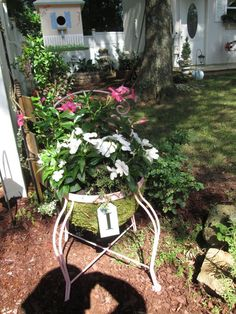 Turn a Thrift Store Chair into a Whimsical Porch Planter