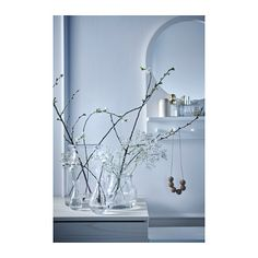 SALTRÖD Mirror with shelf and hooks - white - IKEA