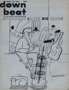 Down Beat Magazine, April 27,1961 Illustration: David Stone Martin.
