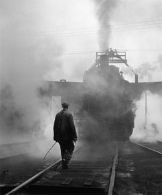 David Plowden Photos | Hostler and CNR Locomotive Number 8403 on Turntable, Hamilton ...