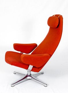 View this item and discover similar for sale at - Alf Svensson Swivel Lounge Chair Designed in 1964 and Produced by Dux Garden Lounge Chairs, Lounge Chair Design, Vintage Furniture, Cool Furniture, Furniture Design, Scandinavian Dining Chairs, Scandinavian Design, Acrylic Chair, Chaise Chair