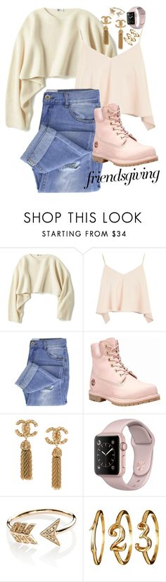 """Friendsgiving"" by vxctxrx ❤ liked on Polyvore featuring Uniqlo, Topshop, Taya, Timberland and EF Collection"
