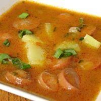 Recept : Frankfurtská polévka s brambory | ReceptyOnLine.cz - kuchařka, recepty a inspirace Around The World Food, What To Cook, Soups And Stews, Thai Red Curry, Food And Drink, Cooking, Ethnic Recipes, Eat, Recipes