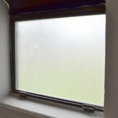 Easy DIY Frosted Window for Privacy (Temporary)- For the window between the backroom/ bedroom and kitchen