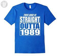 Mens Straight Outta 1989 Birth Year Birthday Celebration T Shirt XL Royal Blue - Birthday shirts (*Amazon Partner-Link)
