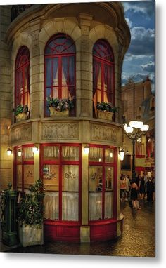 Savad Metal Print featuring the photograph City - Vegas - Paris - Le Cafe by Mike Savad