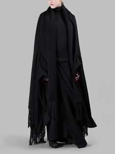 Yohji Yamamoto | Fringe Stole Cloak FW15