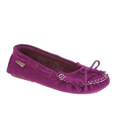 0cb27f7eb1a BEARPAW - Hypnotic Violet Suede Scarlet Moccasin - Zulily Hot Shoes