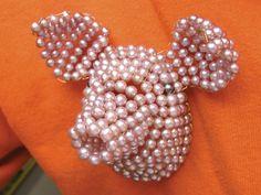 David Bielander brooch. This time, pearls on swine :)
