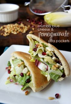 Crumbly Blue Cheese and Pomegranate Pita Pockets - I Wash... You Dry