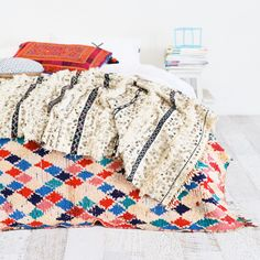 Sage x Clare is an online store that thoughtfully designs, curates and celebrates handmade, artisanal and bohemian wares from around the world. Tribal Bedding, Bright Colors, Colours, Knitted Blankets, Linen Bedding, Interior Inspiration, Decor Styles, Moroccan, Vintage