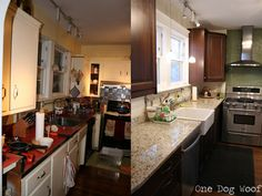 One Dog Woof: Before and After Kitchen Renovation with Ikea Cabinetry