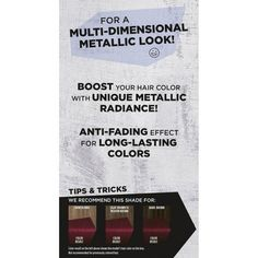 Color Metallic Silver - 1 kit, Grey Silver Color Metallic Silver - 1 Kit : Target Sure, Metallic Hair Color, Silver Hair Dye, Using A Curling Wand, Really Long Hair, Air Dry Hair, Hair Shades, Permanent Hair Color, Permed Hairstyles