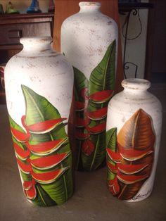 Pintura em vasos de cerâmica