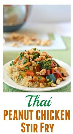 01 A richly flavored, easy, and healthy chicken stir fry in a spicy Thai peanut sauce. Feel free to use any vegetables you have on hand. Vegetarians or vegans may omit chicken or substitute tofu,… Peanut Sauce Stir Fry, Peanut Chicken Stir Fry, Healthy Chicken Stir Fry, Peanut Sauce Recipe, Thai Peanut Sauce, Peanut Butter Sauce, Sauce Recipes, Chicken Recipes, Butter Chicken Sauce