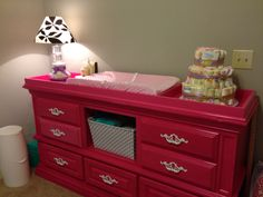 Berry Pink Changing Table