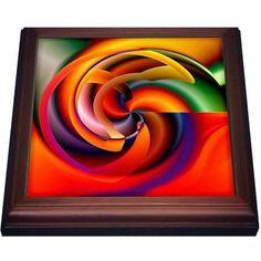 3dRose Digital Artwork Design 7, Trivet with Ceramic Tile, 8 by 8-inch