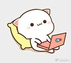 Cute Kawaii Animals, Cute Animal Drawings Kawaii, Cute Cartoon Drawings, Kawaii Drawings, Cute Panda Wallpaper, Cute Pokemon Wallpaper, Kawaii Wallpaper, Cute Cartoon Images, Cute Love Cartoons