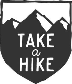Take a Hike: Cool Mountain Badge Hiking Car Decal by MarkedCo
