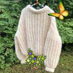 Knitting Patterns Free, Free Pattern, Big Needle, Pullover, Stitch, Easy, How To Make, Sweaters, Fashion